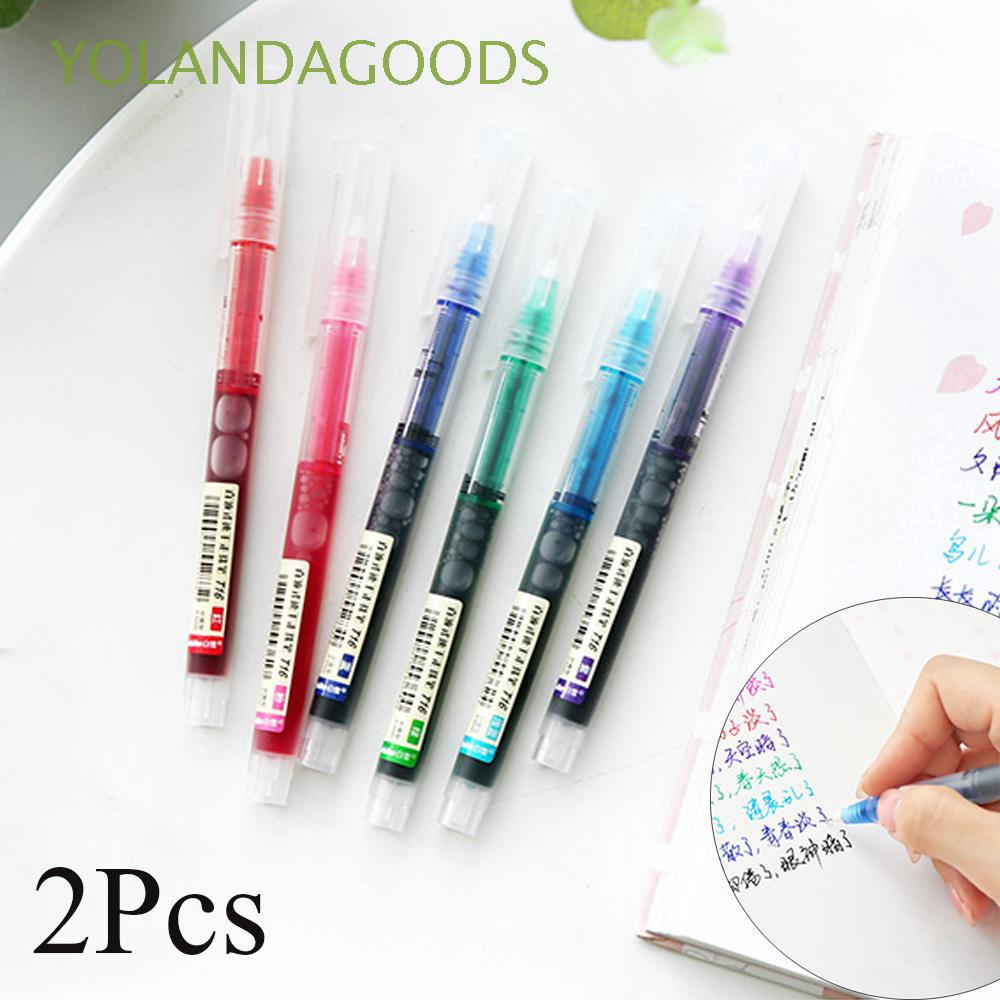 2Pcs Smooth Writing Tool Signing Pastels Office Supply Colorful Gel Pen