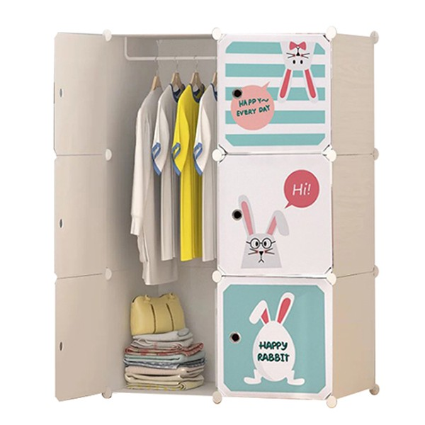 Tủ nhựa ghép,tủ quần áo đa năng tâm house đủ ngăn 6 ô