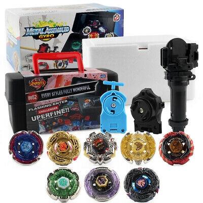 8X Constellation Burst Beyblade Set +Grip Launcher Portable Storage Toy Kid Gift