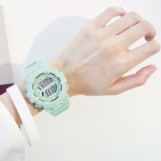 Hình ảnh Đồng hồ nữ và nam Tisselly điện tử c562 mẫu thể thao đầy đủ các chức năng và dây nhựa-3