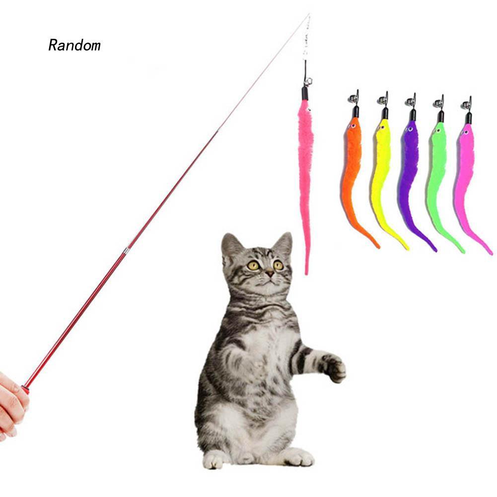 [RA]Kitten Cat Replacing Catcher Teaser Wand Head Replacement Interactive Pet Toy