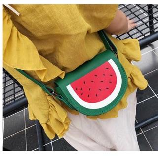 Túi đeo chéo cho bé – Mẫu trái dưa hấu 🍉