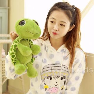 SK★-Cute Baby Super Green Big Eyes Stuffed Tortoise Turtle Animal Plush Baby Toy Gift Hot 20CM