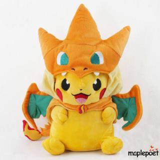 ☀POP☁Pokemon Pikachu Avec Charizard chapeau Peluche rembourré Animal Poupée 22.9cm