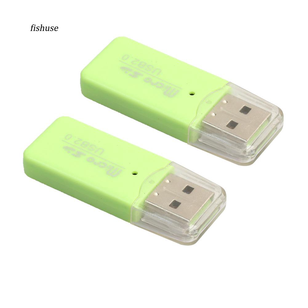 FHUE_Fashion Portable Micro Sd TF USB 2.0 High Speed Memory Card Reader Adapter