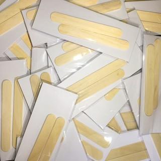 Giấy wax lông chuyên dụng 50 tờ + 2 que gạt, giấy wax lông tại nhà dùng kèm sáp wax lông - GWL 1
