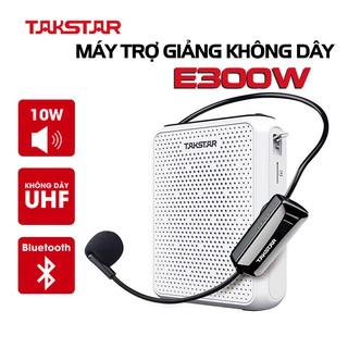 Máy trợ giảng không dây TAKSTAR E300W sử dụng sóng UHF, có bluetooth, giành cho giáo viên, hướng dẫn viên, livestream