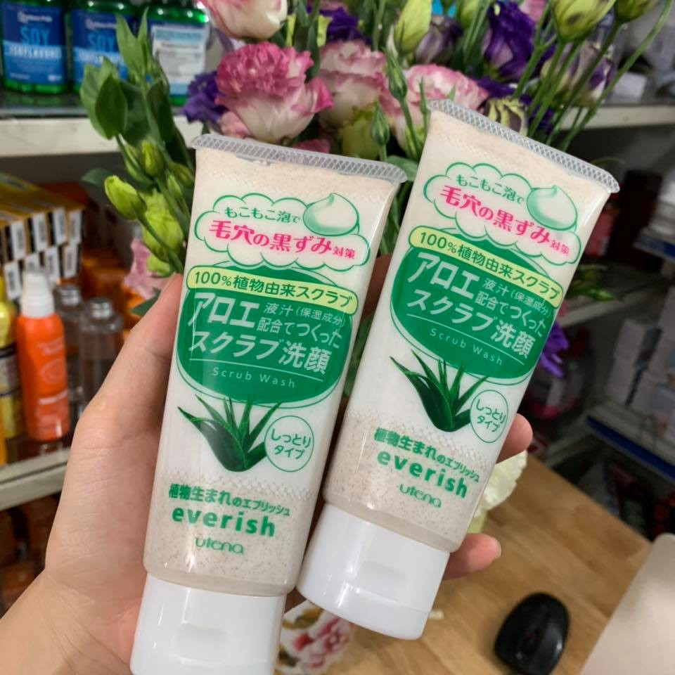 Sữa Rửa Mặt Utena Everich Lô Hội | Shopee Việt Nam