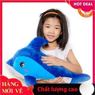 Gấu bông cá heo xanh size 50cm_Hàng tốt