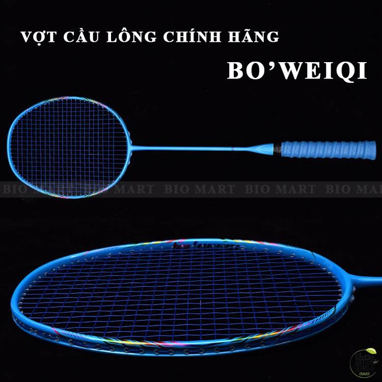 Bộ Vợt Cầu Lông Boweiqi Chính Hãng – Vợt Cầu Lông 100% Khung Carbon Siêu Bền, Siêu Nhẹ KÈM PHỤ KIỆN - Q073