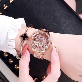 (Giá sỉ) Đồng hồ thời trang nữ DZG dây kim loại đính đá sang trọng
