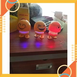 T888 Icon cảm xúc mặt cười lò xo nhún có đèn (trộn đều mẫu)NVD90