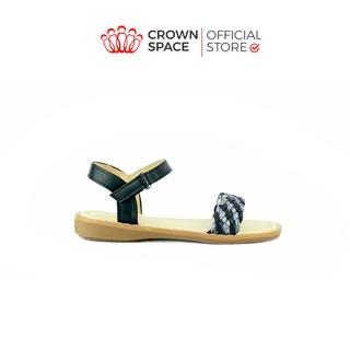 Xăng đan Bé Gái Đi Học Đi Chơi Crown Space UK Cinderell Sandals Trẻ em Cao Cấp CB7012 Nhẹ Êm Thoáng Size 24-29 2-12 Tuổi