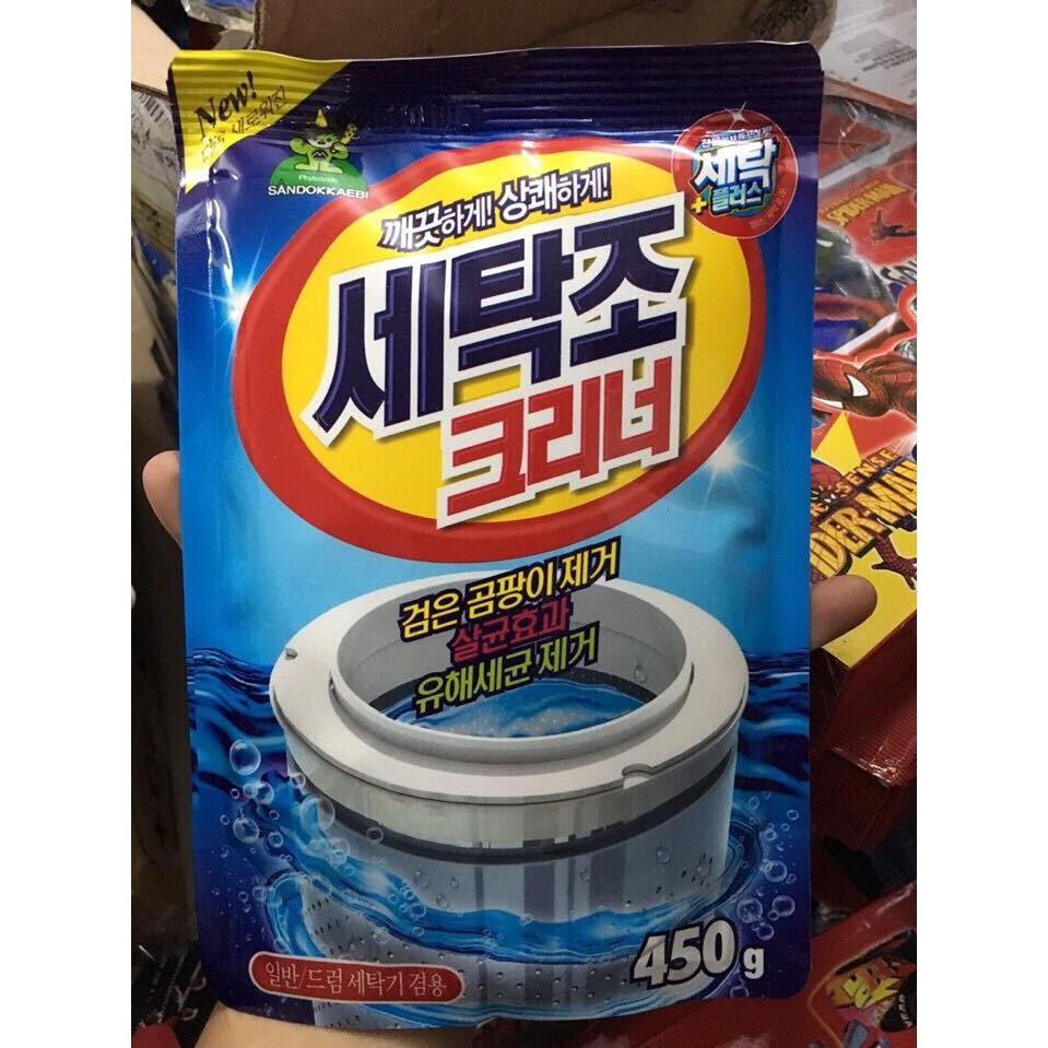 Bột tẩy vệ sinh lồng máy giặt Hàn Quốc 450g - 2576092 , 35483179 , 322_35483179 , 40000 , Bot-tay-ve-sinh-long-may-giat-Han-Quoc-450g-322_35483179 , shopee.vn , Bột tẩy vệ sinh lồng máy giặt Hàn Quốc 450g
