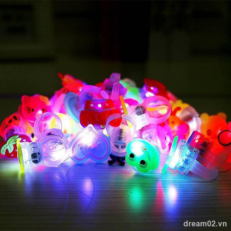 Children's toysGlowing ring toys for children Christmas gifts LED flashing finger lights cute cartoon s