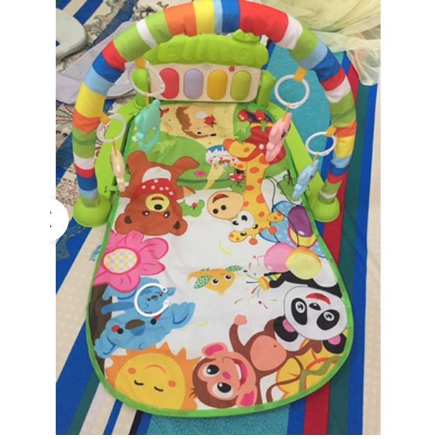Thảm nhạc cho bé nằm chơi hình Hình Khỉ , Thảm đàn piano cho bé sơ sinh nằm chơi xuất nhật