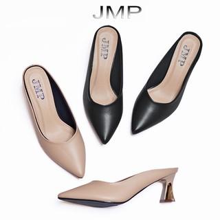 Giày Sục Nữ Cao Gót Mũi Nhọn Hở Gót Cao 5CM - JMP - Đế Nhựa Chống Trượt - AH259