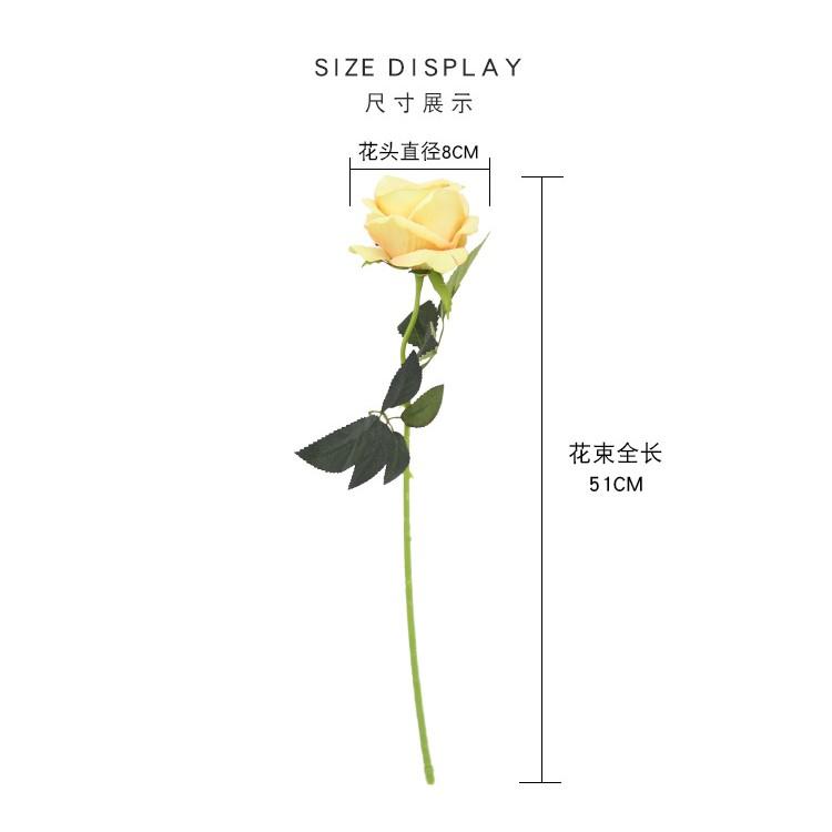 Loại 1-Hoa giả-Hoa hồng nhung giống thật 99% 1 bông size lớn 51cm bông 8cm- trang trí decor-Trà quý tộc