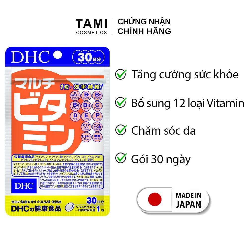 Viên uống Vitamin tổng hợp DHC Nhật Bản bổ sung 12 vitamin thiết yếu thực phẩm chức năng gói 30 ngày TM-DHC-MUL30