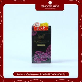 [Chính hãng cao cấp] Bao cao su JEX Glamourous Butterfly JEX Hot Type gel bôi trơn nóng (Hộp 6c)