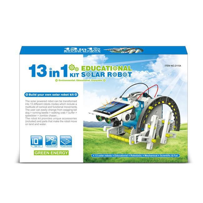 [TL]Bộ lắp ráp năng lượng mặt trời - Robot tương lai 13 in 1 (Educational Solar Robot Kit)(259)