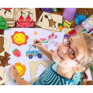 Bộ khung tập vẽ và tô màu cho bé