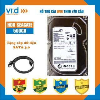 Ổ cứng HDD 500GB Seagate - Tặng cáp sata 3.0 - Hàng nhập khẩu tháo máy đồng bộ mới 98% - bảo hành 3T