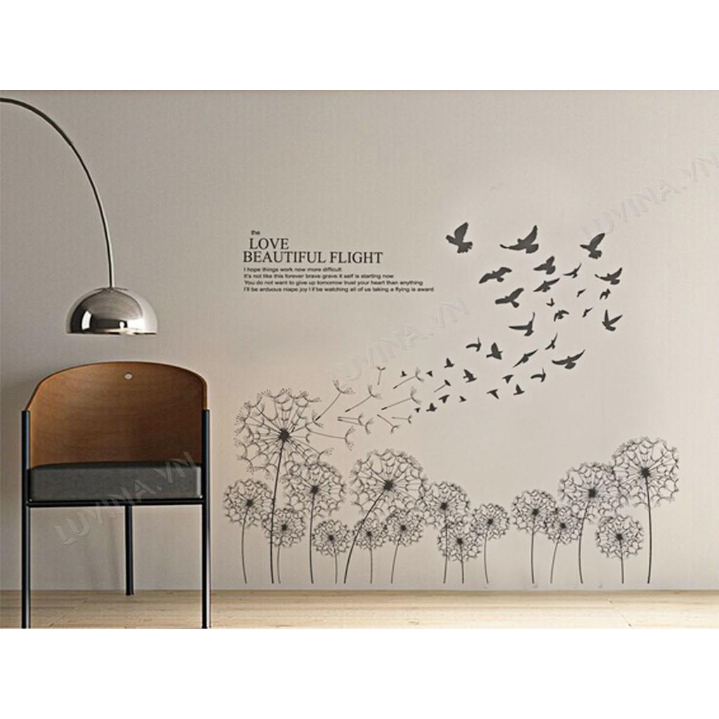 Decal trang trí nhà cửa văn phòng, quán cafe, phòng khách , phòng ăn-BỒ CÔNG ANH BAY