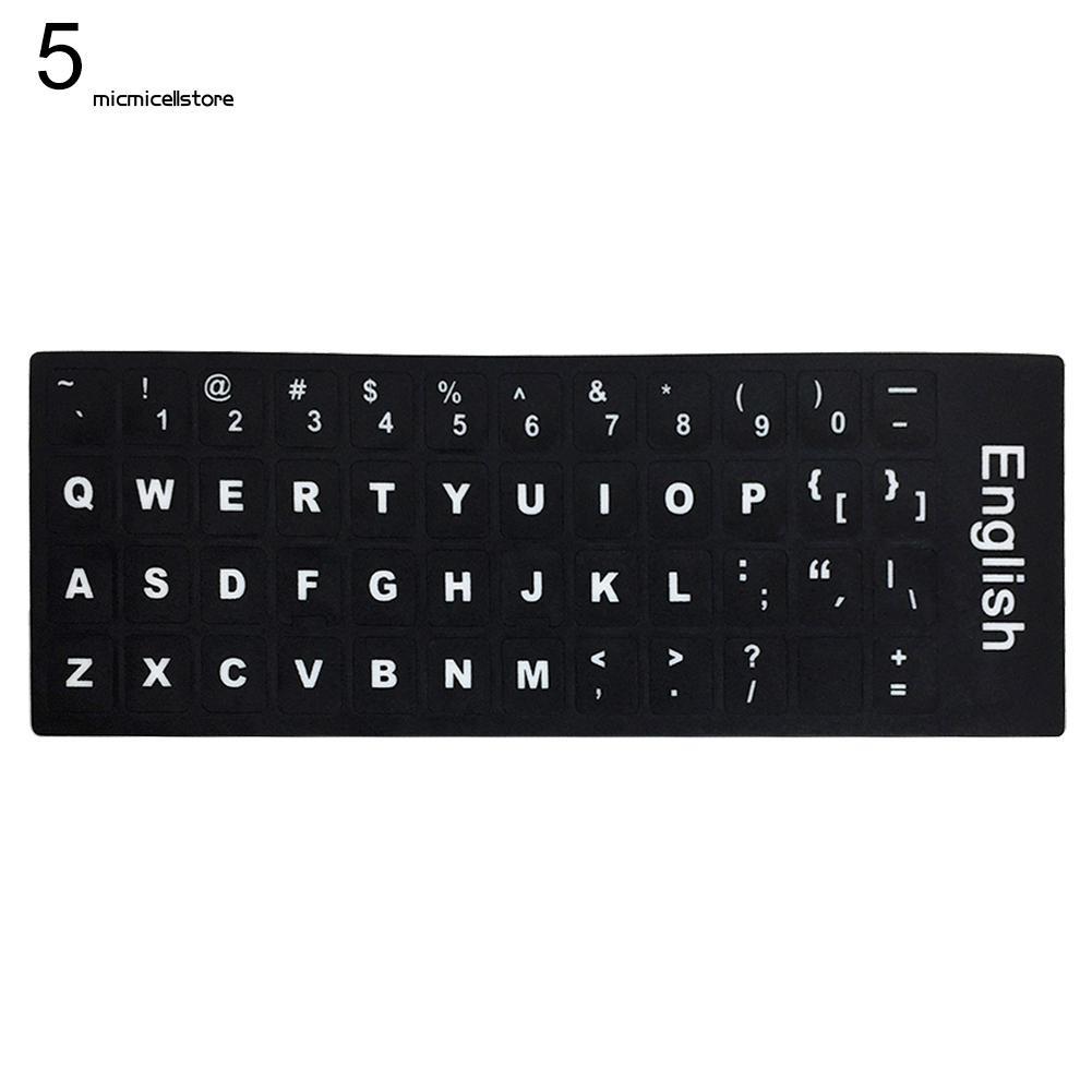 Sticker dán bàn phím máy tính nhiều ngôn ngữ đa dạng