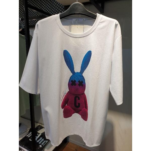 Áo thun trơn tay lỡ MICO nữ nam dáng Unisex in họa tiết thỏ con cool ngầu   SaleOff247