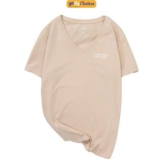 [Mã FASHIONGREEN94 giảm tới 30K đơn 99K] Áo phông nữ YODY cổ tim form rộng vải cotton thoáng mát PPN4138 thumbnail