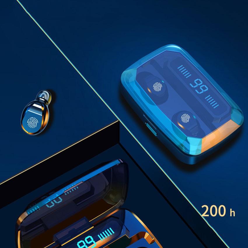 [Freeship] Tai nghe không dây ,Tai nghe bluetooth TWE F9 v5.0,có Dock sạc kiêm sạc dự phòng, chống ồn, chống nước