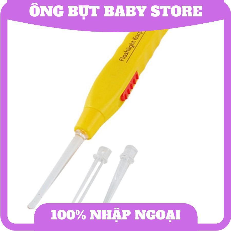 Dụng cụ lấy ráy tai cao cấp có đèn soi cho bé trai bé gái kết hợp 2 trong 1