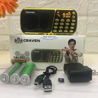 [Mã ELFLASH5 giảm 20K đơn 50K] [FREESHIP❤️] Loa Craven CR 853 3 Pin Nghe Thẻ Nhớ, USB, FM, Loa Tắm Ngôn Ngữ Cho Bé