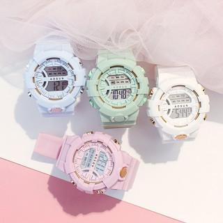 Đồng hồ điện tử nam nữ thể thao Shhors AOSUN chạy kim và số điện tử cực chất size 30MM thumbnail
