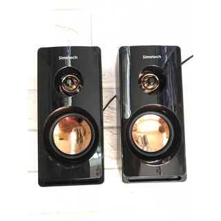 Loa vi tính 2.0 SIMETECH KQ-02 Chính hãng âm thanh cực hay siêu bền  bảo hành 6 tháng 1 đổi 1