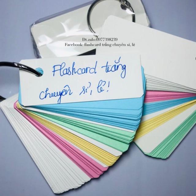 Flashcards Học Từ Vựng Ngoại Ngữ Trung Nhật Anh Hàn Đức Đáng Yêu như hình 3x8cm