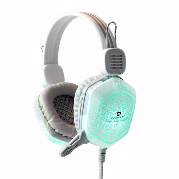 Tai nghe game thủ đổi 7 màu QinLian A2 (Trắng)