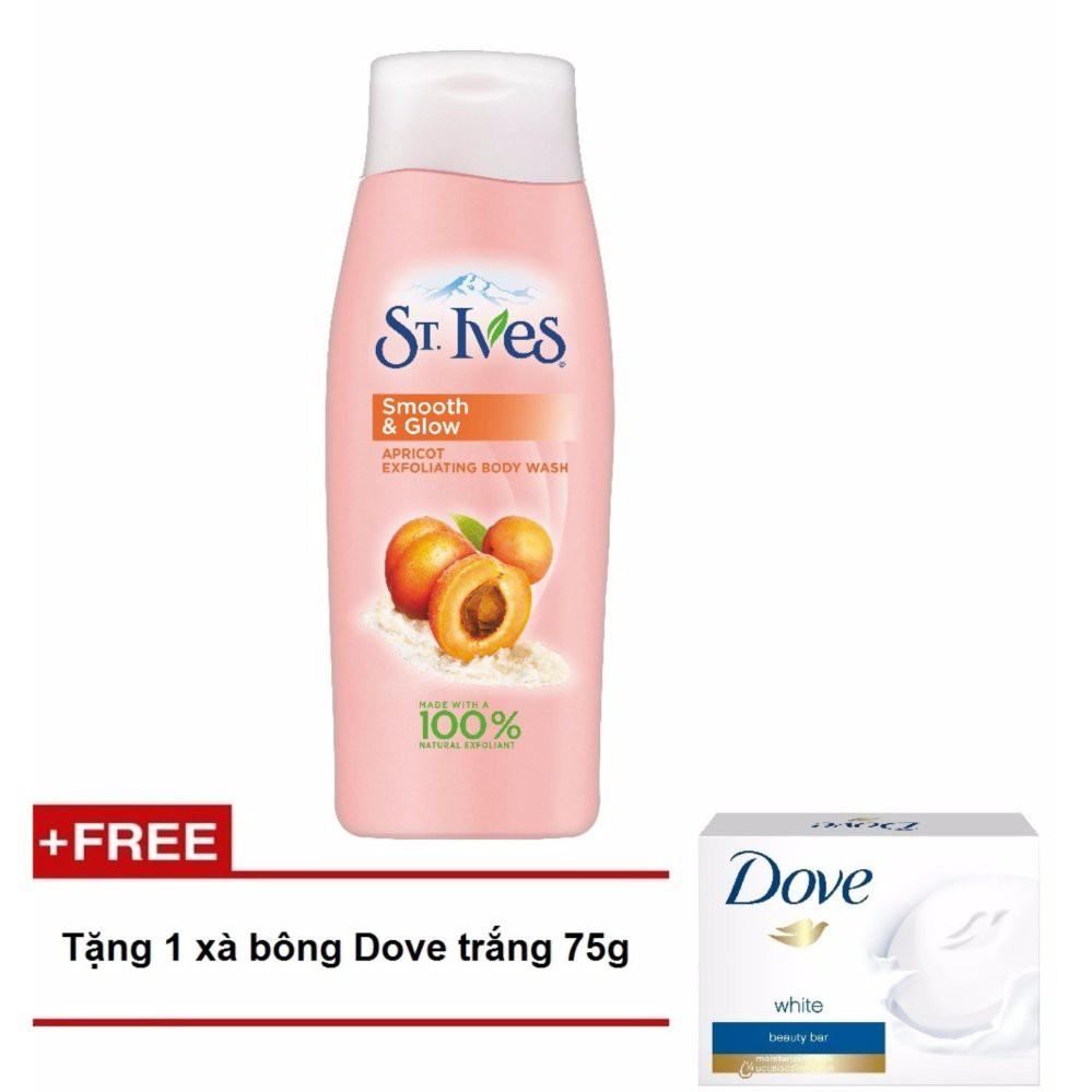 Sữa tắm St.Ives Hương Mơ 400ml + tặng 1 xà bông dưỡng da Dove trắng 75g - 3406592 , 625735166 , 322_625735166 , 103180 , Sua-tam-St.Ives-Huong-Mo-400ml-tang-1-xa-bong-duong-da-Dove-trang-75g-322_625735166 , shopee.vn , Sữa tắm St.Ives Hương Mơ 400ml + tặng 1 xà bông dưỡng da Dove trắng 75g