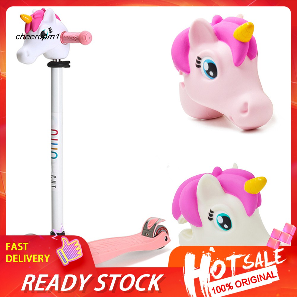 【Ready stock】Cute  Horse Head Attachment Kids Child T-Bar Scooter Accessory