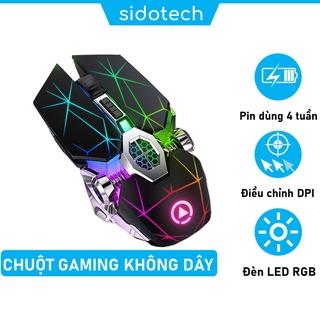 Chuột Không Dây Gaming Máy Tính SIDOTECH YINDIAO S7A Chơi Game Không Độ Trễ Chống Ồn Sạc Pin LED RGB - Hàng Chính Hãng thumbnail