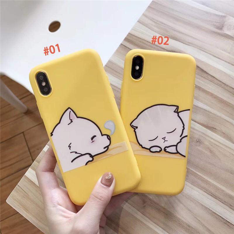 Ốp lưng điện thoại nhựa mềm iPhone X 6 6S 6Plus 7 7Plus 8 87plus hình con mèo