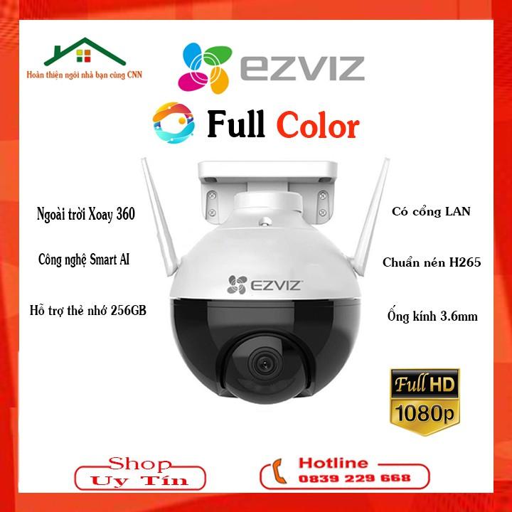 Camera 2MB Wifi Ngoài Trời PTZ Mini (Xoay 360) EZVIZ C8C Màu Ban Đêm Công Nghệ AI Thông Minh 1080P C3WN - Chính Hãng