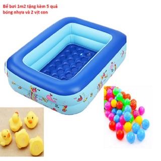 Bể 120cm tặng kèm 5 bóng và 2 vịt thả bồn tắm cho bé