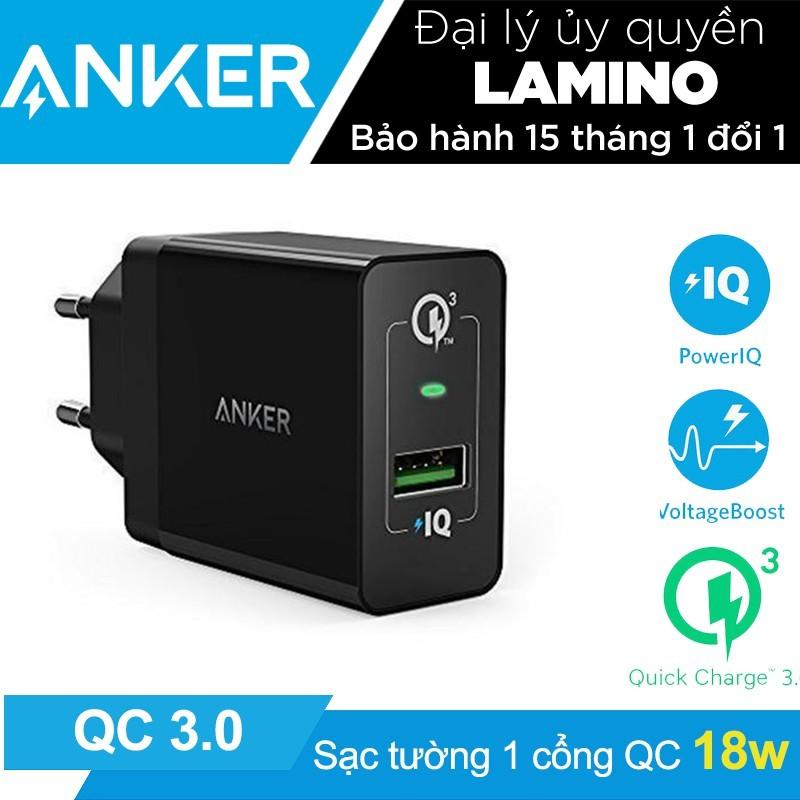 Sạc ANKER PowerPort+ 1 cổng 18w Quick Charge 3.0 có PowerIQ – Hãng Phân Phối Chính Thức