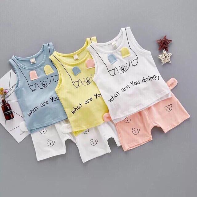 Bộ ba lỗ chân gấu cho bé gái - 3597167 , 1072924787 , 322_1072924787 , 60000 , Bo-ba-lo-chan-gau-cho-be-gai-322_1072924787 , shopee.vn , Bộ ba lỗ chân gấu cho bé gái