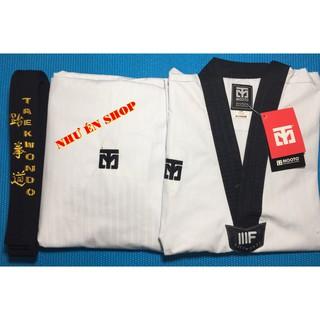 Võ Phục Taekwondo Cổ Đen Moto Loại Tốt. (Không kèm đai)
