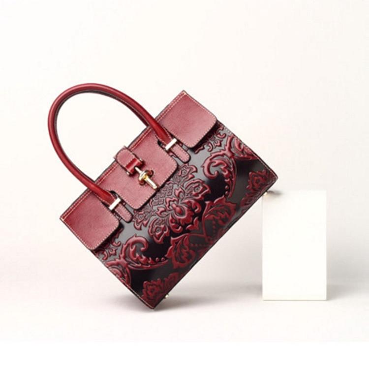 ฤดูใบไม้ผลิกระเป๋าหญิงใหม่ในยุโรปและอเมริกาหนังแฟชั่นกระเป๋าถือขนาดใหญ่