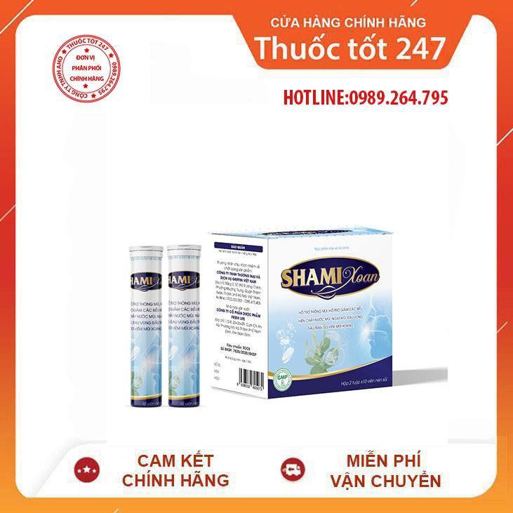 Viên Sủi Shami Xoan (Hộp 2 Tuýp) - Hỗ Trợ Giảm Triệu Chứng Viêm Mũi & Viêm Xoang - Thuoctot247.Vn giá rẻ