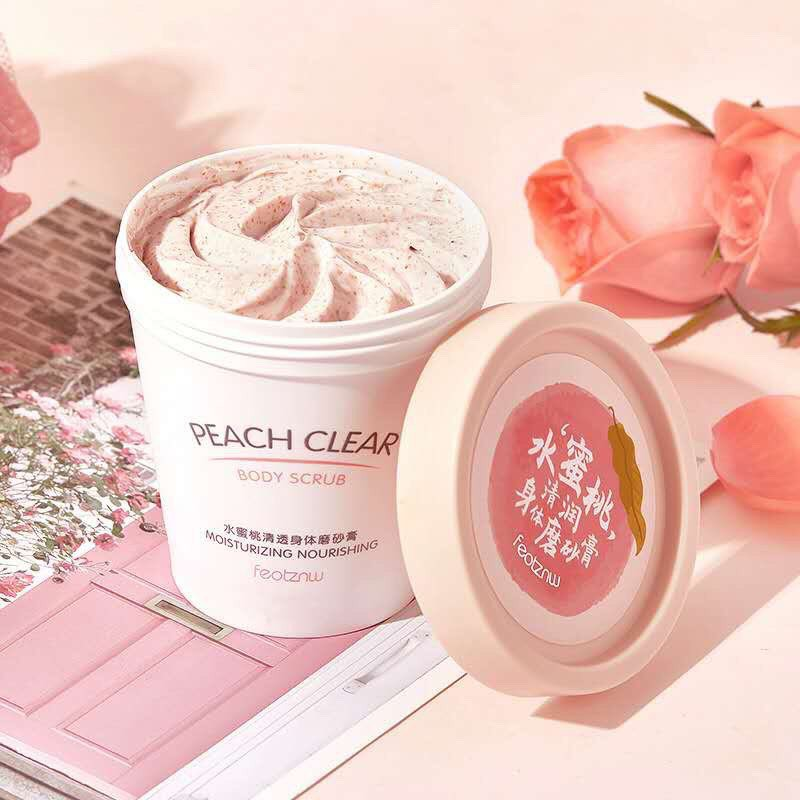 Kem Tẩy Da Chết Body Đào Peach Clear 200ML - Hàng Hot